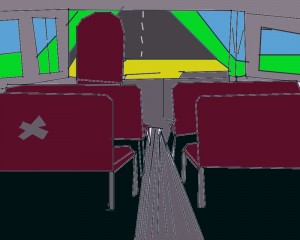 Inside view of school bus