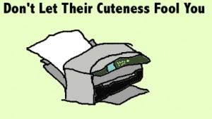 A hateful printer