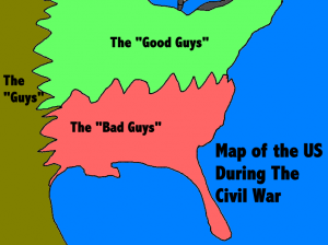 A map of the civil war