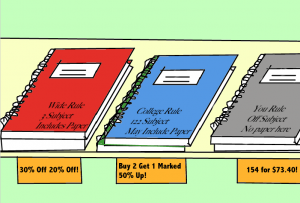 Funny picture of various notebooks