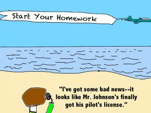 A funny pic about summer homework